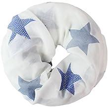e556a988296f81 Glamexx24 Loop schal leichter Langschal Sterne Muster Schlauchschal Strass  Tuch Viele Farben SC20170401