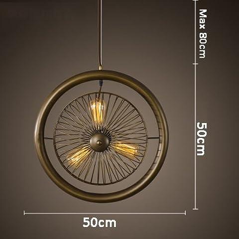 Las lámparas colgantes de estilo norteamericano salón dormitorio ventilador lámpara de forma creativa,forma un