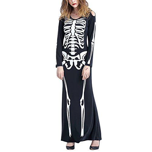 Petalum Haloween Kostüm Herren Damen Unisex Halloween Skelett -