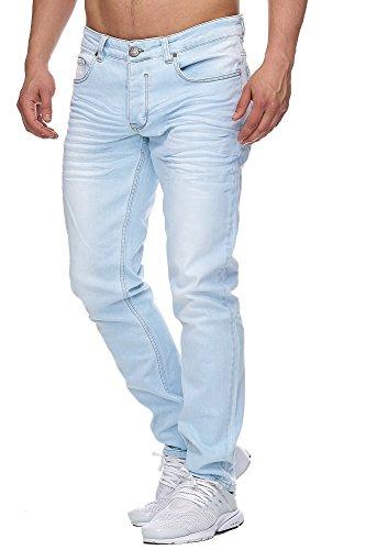 Tazzio Slim Fit Herren Styler Look Stretch Jeans Hose Denim 16533 Light-Blue 29/32 - Sicher Styler
