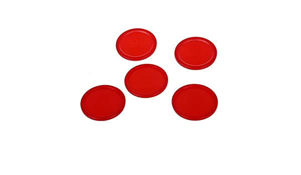 5 Stueck 2 Mini Air Hockey Tisch Brett Rote Plastikkugel 50 mm Kinder Tabelle Neu TOOGOO R