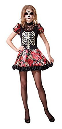 Kostüme Day Doll The Dead Of (Day Of The Dead Doll - Adult Ladies Halloween Costume - One Size Lady:)