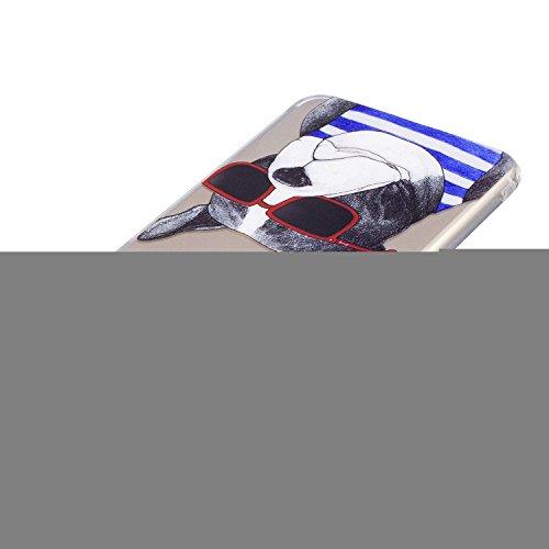 "iPhone 7 Plus (5,5 zoll) Hülle Case, Edaroo Niedlich Lustig Karikatur Tiere Corgi Muster iPhone 7 Plus 5,5"" Schutzhülle Hülle Case Cover Ultra-Transparente Felxible TPU Silikon Handyhülle Hülle mit An Dog #4"