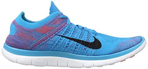 Nike - Free 4.0 Flyknit, sneakers  da donna Blu (Blue (Blue Lagoon/Bright Crimson/Game Royal/White))