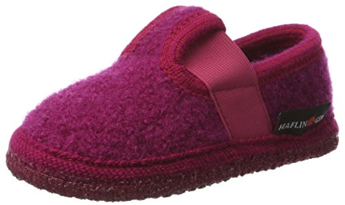 Haflinger - Slipper Joschi, Sneaker alte Unisex - Bambini Pink (Kardinal)