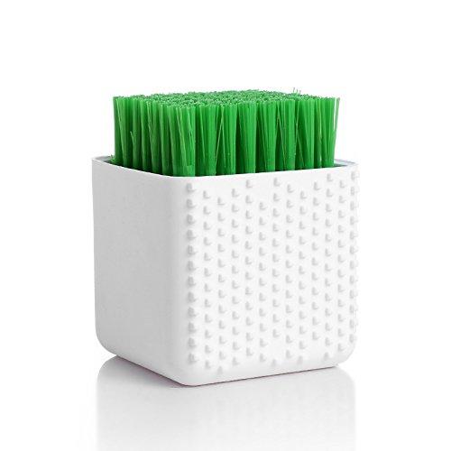 Silikon Pinsel weichen Haar sauber Pinsel waschen Schuhe Bürste Unterwäsche reinigen Wäsche Unterwäsche Pinsel Dual Pinsel (Weiß)