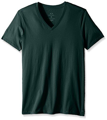 Armani Exchange A|X Herren Kurzarm T-Shirt - Grün - XX-Large