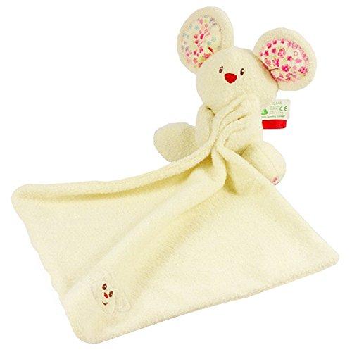 SZTARA Baby Wrap Comforter Nursery Swaddle Infant Blanket Soft Little Mouse White