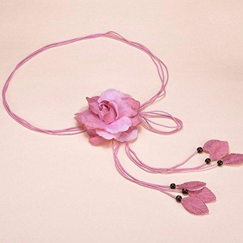 Zhaojianing cintura da donna con catena a vita dolce annodata frange lunghe con fascia ornamentale