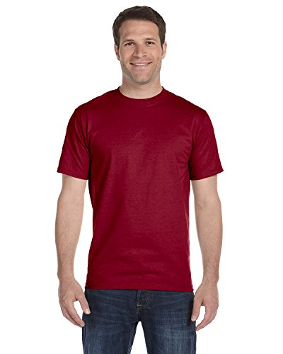 Fruit of the Loom T-Shirts, FL ADT 100% T Weiß XL Rot - Maroon