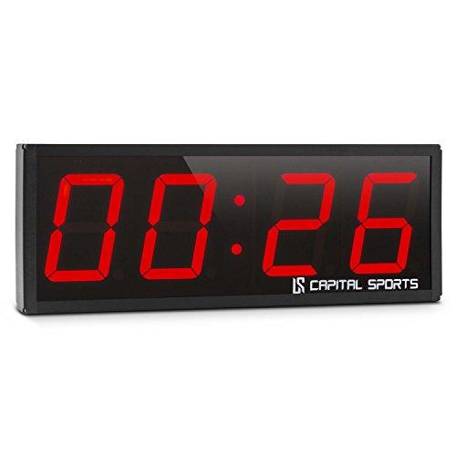 CAPITAL SPORTS Timeter 1.0 und 2.0 • Sporttimer • Fitness Timer • 4 oder 6 x große Ziffer • Signalton • 3 Modi • individuell programmierbar • 14 Speicherplätze • auch für Wandmontage • schwarz