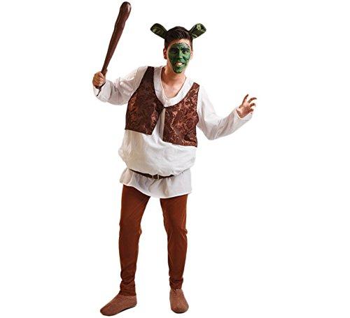 EL REY DEL CARNAVAL, SL Grünes Oger-Kostüm für Erwachsene Einheitsgröße (Herren Shrek Kostüm)