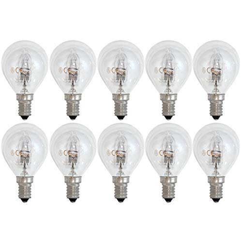 General Electric GE Lighting Halogen Tropfen E14 SES Glühlampe Glühbirne 30W = 40W dimmbar 405lm 2800K warmweiß (5 x 2er-Pack) -