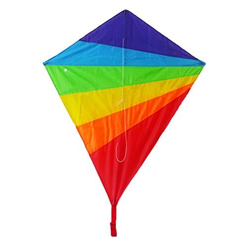 Vosarea Rhombique für Kinder Flyer Rainbow Kites Spielzeug Strand im Freien Sommer 100 x 90 cm - Flyer Kite