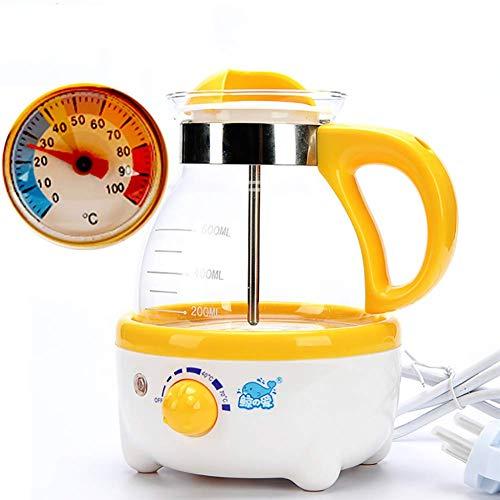Baby-Thermostat Soja-Bohnen-Milchmaschine Multi-Funktion Milchpulver-Maschine Konstante Temperatur Kessel Milchpulver Maschine Milchtopf (Gelb)
