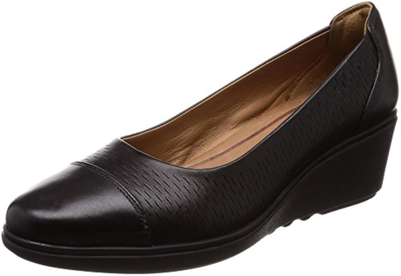 Clarks , Chaussures de Ville à Lacets Lacets à pour Femme Noir Noir aaa72d