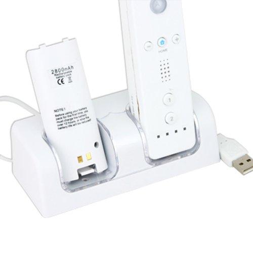 Für Wii Spiel * 2x Akku Pack + Fernbedienung Controller Ladegerät Wii-remote-kabel