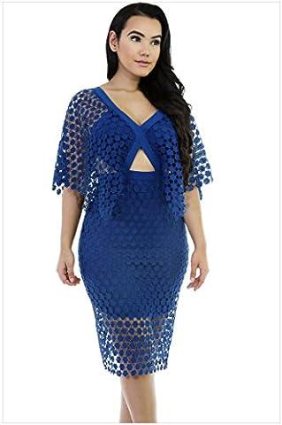 YLSZ-In the long V long dress dress collar back zipper backless straight knee,Navy Blue,L