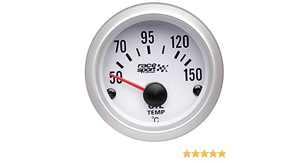 Sumex Gaug528 Race Sport Öl Temp Thermometer 12 V Weiß Auto