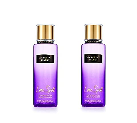 Lot de 2 Victoria Secret Love Spell Brume Parfumée 8.4 Oz 250 ml