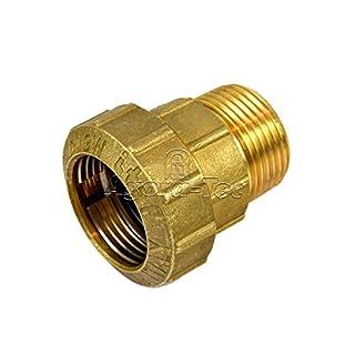 Agora-Tec® Messing Fitting Kupplung 32 mm x 1 Zoll AG (33,3 mm) für PE-Rohr 32 mm