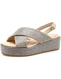Mujeres Pump 5.5cm Wedge Heel Thick Bottom Sandals Roma Shoes Sweet Open Toe Slingbacks Zapatos casuales Hollow...