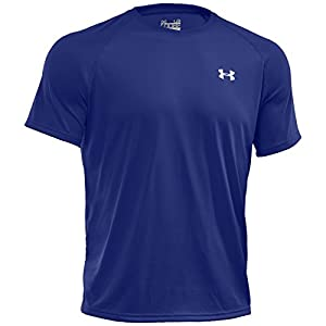 Under Armour Tech Men's Short-Sleeve Shirt, Royal/White (400), Medium