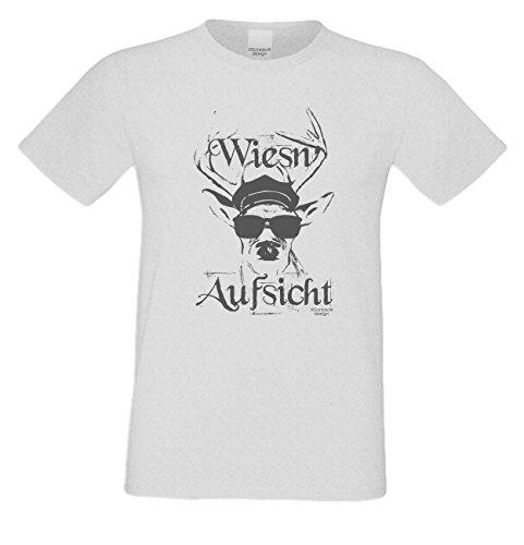 Witziges-Herren-Sprüche-Fun-T-Shirt cooles Volksfest Oktoberfest Party Outfit Motiv Wiesn - Aufsicht auch in Übergrößen Farbe: grau Grau
