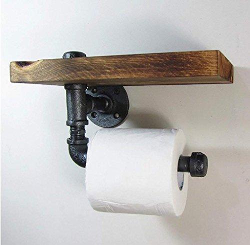 NAERFB Retro Schmiedeeisen Papier Handtuch Halter Wasserrohr Industrial Wind Rack/Bad WC WC Papier Handtuchhalter (Wc-papier Schmiedeeisen)