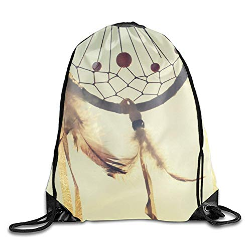 uykjuykj Tunnelzug Rucksäcke, Drawstring Backpack Wind Chimes Goodie Bags,Promotional Gym Sack for Birthday Party Wind chimes2 Lightweight Unique 17x14 IN