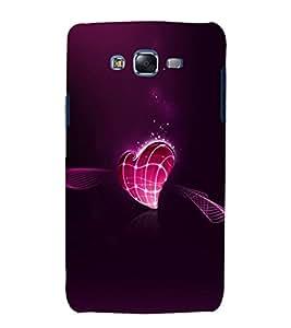 printtech Love Heart Design Back Case Cover for Samsung Galaxy A8 / Samsung Galaxy A8 A800F