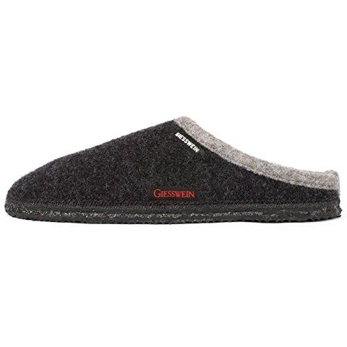 Giesswein P. Dannheim, Unisex-Erwachsene Pantoffeln, Grau (019/anthrazit), 44 EU