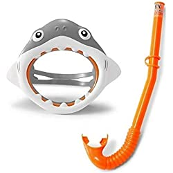 OTTO Set Masque Requin + Tuba Enfant 3-8 Ans -Piscine - mer - Plage - Set de Plongee