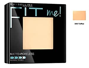 Maybelline Fit Me Matte+Poreless Pressed Powder 8.5gm with Ayur Product in Combo (330-Toffee)