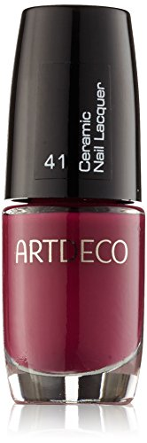 Artdeco Ceramic Nail Lacquer unisex, Nagellack, farbe: 041 rich berry, 1er Pack (1 x 41 g) (Hand Nagel Pflege Pinsel)