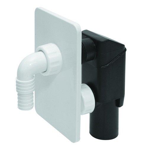 Weiß verborgen Waschmaschine Abflussrohr Siphon-Kit Selbst Ausschneiden