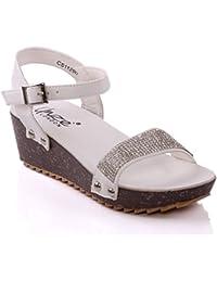 Unze Sandales compensées formelles de Laxi 'Girls