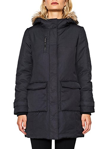 Esprit 097ee1g022, Manteau Femme, Noir (Black 001), Medium
