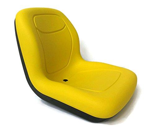 Seats4u Milsco XB180 Yellow – John Deere Schwenksitz mit hoher Rückenlehne – Aufsitzmäher Traktor Turfcare
