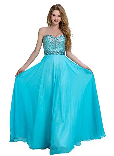 Bridal_Mall - Robe de mariage - Trapèze - Femme Bleu - Sky-Blue