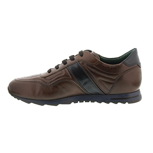 Galizio Torresi Sneaker, Glattleder, Blue / Testa di Moro 310466A Braun / Blau