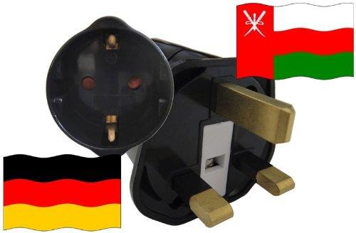 Preisvergleich Produktbild Urlaubs Reiseadapter Oman für Geräte aus Deutschland Kindersicherung und Schutzkontakt 250V