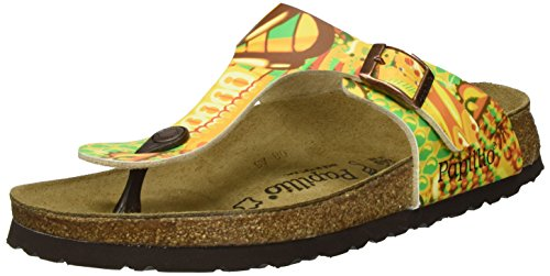 Papillio - Gizeh Birko-flor, Infradito Donna Mehrfarbig (African WAX Gold)