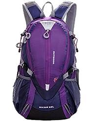 lethigho 25L impermeable mochila de viaje de senderismo ciclismo montañismo mochila para deportes al aire libre camping Bolsa hombros Escalada Mochila, morado