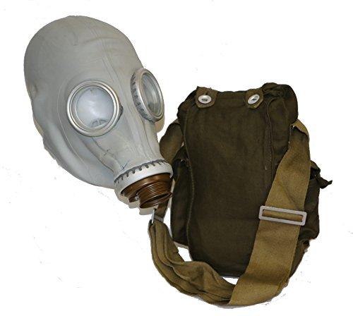 OldShop Gasmaske GP5 Set - Sowjetische Militärgasmaske Replica Sammlerstück-Set W/Maske, Tasche - Authentischer Look Farbe: Grau | Größe: M