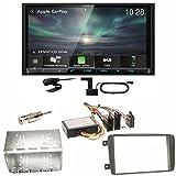 Kenwood DMX-8019DABS Carplay Android Auto Digitalradio DAB+ Bluetooth Freisprecheinrichtung DMX8019DABS USB MP3 Autoradio 2-DIN Moniceiver Einbauset für Mercedes C-Klasse W203 CLK W208 W209