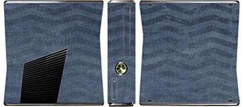 grunge-vintage-blue-grey-chevron-pattern-background-xbox-360-slim-2010-vinyl-decal-sticker-skin-by-m
