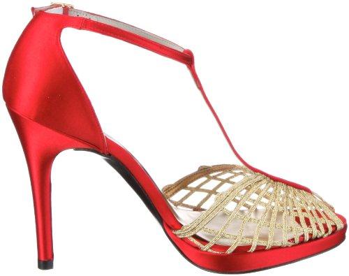 Stuart Weitzman Stripper 69 Damen Sandalen/Fashion-Sandalen Rot/red satin
