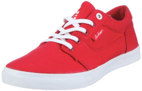DC Shoes Bristols Canvas Womens Shoe D0303113, Damen, Sneaker, Rot  (Athletic Red/White ART), EU 38.5  (UK 5.5)  (US 7.5) (Dc Sneakers Shoes Athletic)