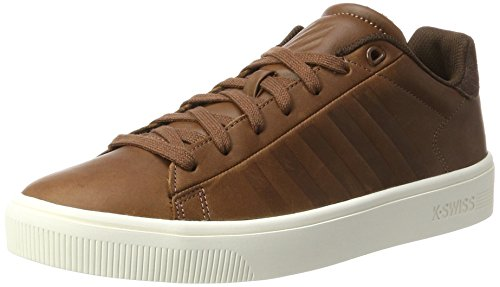 K-Swiss Herren Court Frasco Sneaker, Braun (Tortoise Shell/Chocolate/Marshmellow), 44 EU